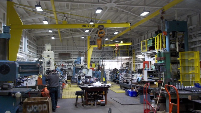 Image of the interior view of a Seaspan Victoria workshop