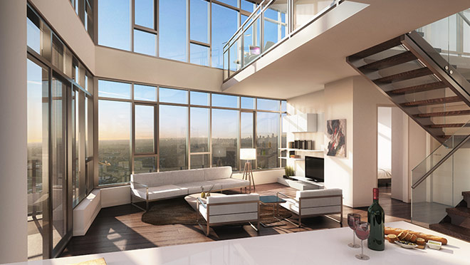 Image from the Sky Villa in the Stratus Tower