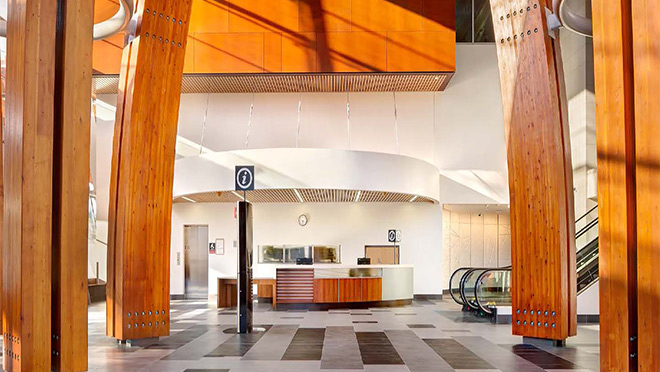 Interior of Surrey Memorial Hospital lobby