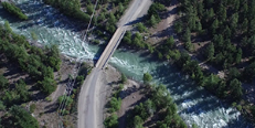 Aerial video of Bridge River