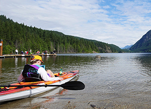 Image of a kayaker at Buntzen Lake