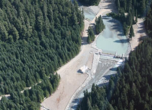 Run of river project at Fitzsimmons Creek in Whistler