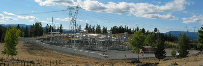 Image of Interior to Lower Mainland substation