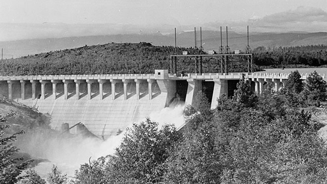 Image of the John Hart dam