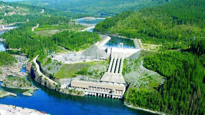 Aerial of the Kootenay Canal Generating Station