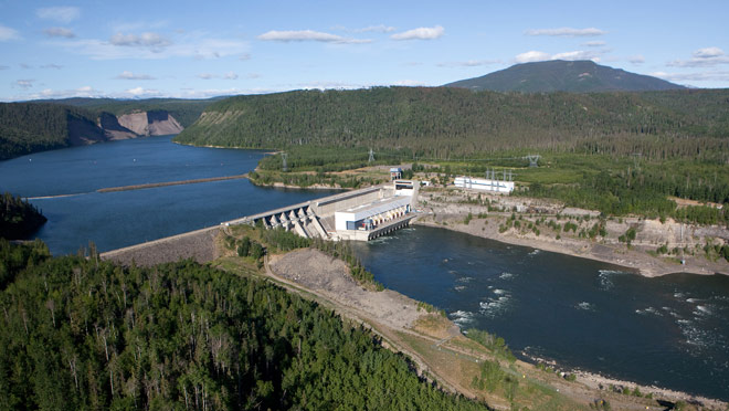 View of Peace Canyon Dam & Generating Station