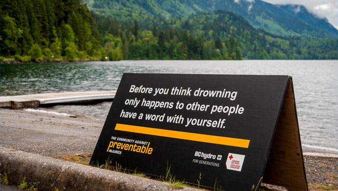 Preventable signage, water safety
