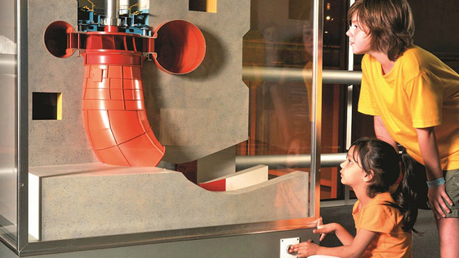 Interactive displays at Revelstoke Dam