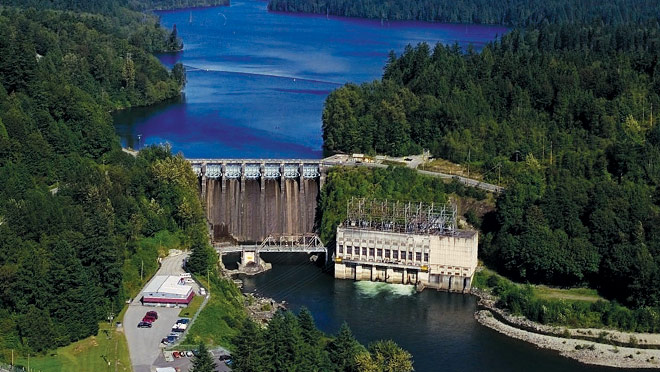Ruskin dam and powerhouse