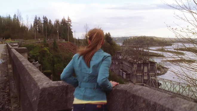 Image of Smallville filming an episode at Ruskin Dam, near Mission