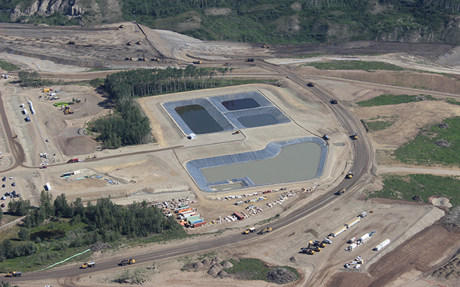 Ariel view of ponds at Site C