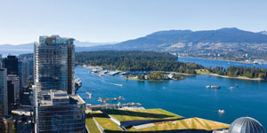 Aerial photograph of Vancouver, British Columbia