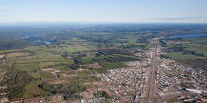 Aerial view of Fort St. John