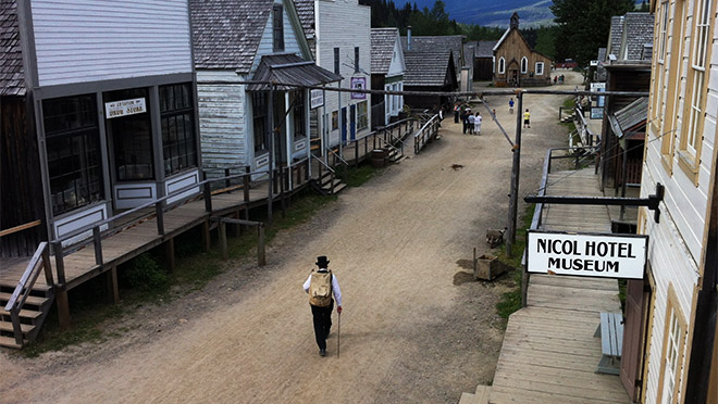 Street and boardwalk, Barkerville, B.C.