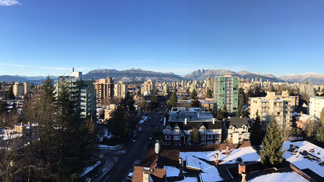 Image of Vancouver view in winter