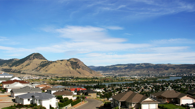 Panoramic view of Kamloops