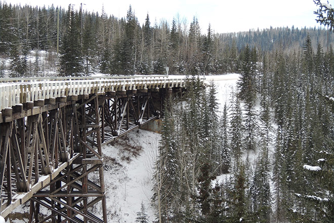 Image of Kiskatinaw Bridge, Alaska Highway