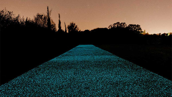 Image of illuminated Star Path