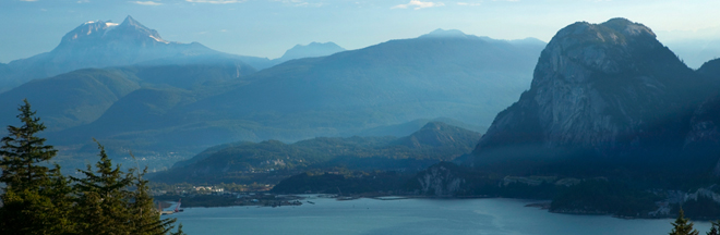 View of Stawamus Chief and Howe-Sound