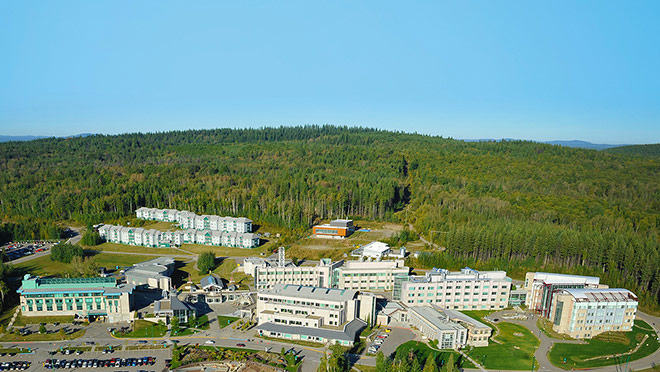 Image of the UNBC campus