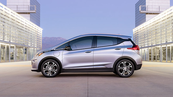 Image of silver Chevrolet Bolt