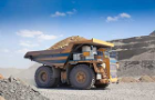 A heavy truck working in a strip mine
