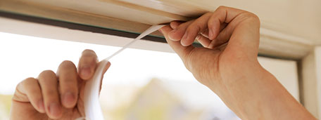 Installing weatherstripping