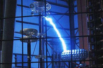 Lightning strikes in a big room