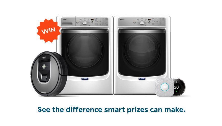 Enter to win a washer-dryer pair & more