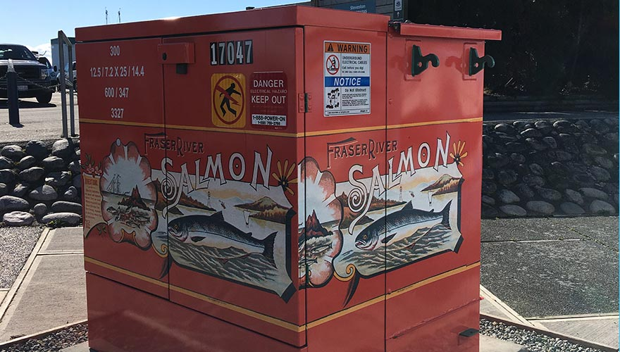 Go fish! Electrical boxes become works of art
