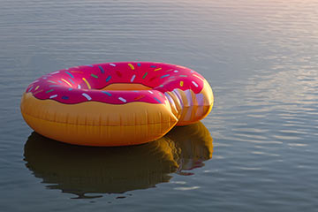 Donut rely on that trendy floatie to keep you safe on the water