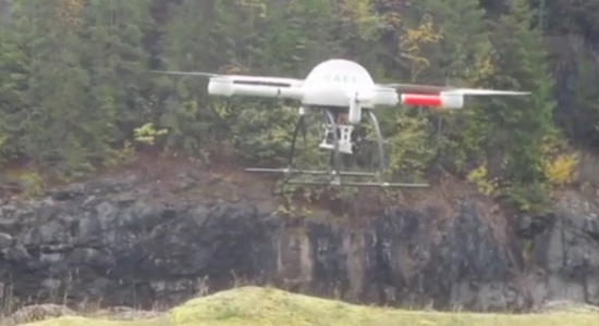 Unmanned aerial vehicle 'films' Kootenay Canal