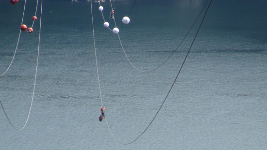 Bc Hydro Technicians Do High Wire Act Over Indian Arm